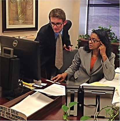 Fellows working at the Georgia State Capitol