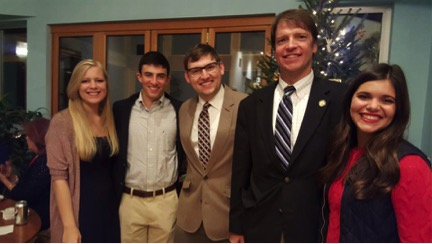 Fellows attending the Clarke County Democratic Committee Annual Christmas Party